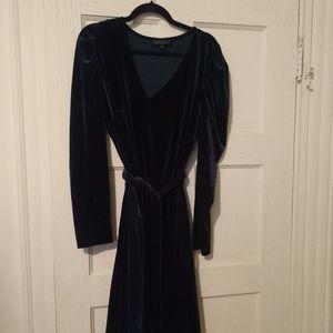 NWOT Eloquii Green Velvet Dress